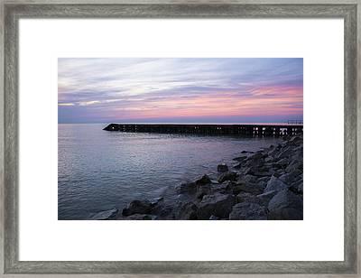 Sunrise Lake Michigan September 7th 2013 002 Framed Print