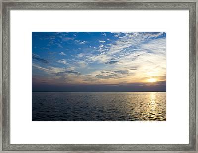 Sunrise Lake Michigan September 7th 2013 003 Framed Print
