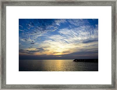 Sunrise Lake Michigan September 7th 2013 005 Framed Print