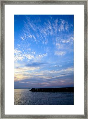 Sunrise Lake Michigan September 7th 2013 006 Framed Print