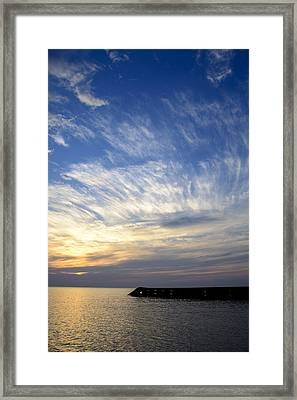 Sunrise Lake Michigan September 7th 2013 007 Framed Print