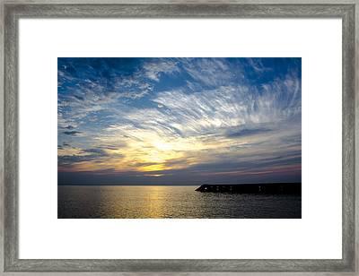 Sunrise Lake Michigan September 7th 2013 008 Framed Print