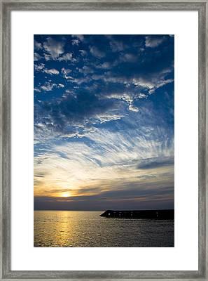 Sunrise Lake Michigan September 7th 2013 009 Framed Print