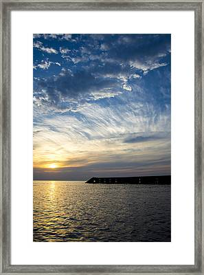 Sunrise Lake Michigan September 7th 2013  Framed Print