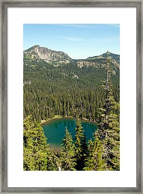 Sunrise Lake Framed Print by Tikvah's Hope