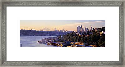 Sunrise, Lake Union, Seattle Framed Print by Panoramic Images