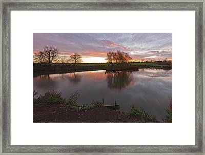 Sunrise Lenton Fishing Pond Framed Print