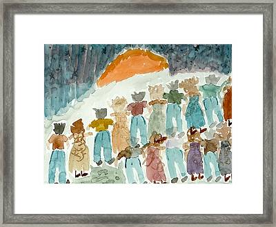 Framed Print featuring the painting Sunrise by Lesley Fletcher