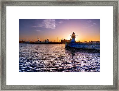 Lighthouse Silhouette Framed Print by EXparte SE