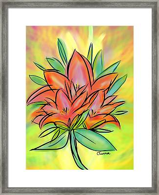 Sunrise Lily Framed Print