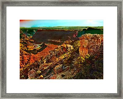 Sunrise Lipan Point Grand Canyon Framed Print by Bob and Nadine Johnston