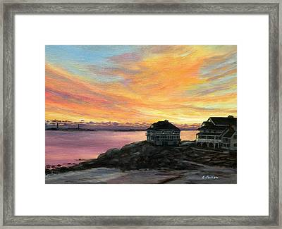 Sunrise Long Beach Rockport Ma Framed Print by Eileen Patten Oliver