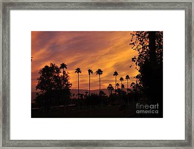 Sunrise Looking East Towards Mecca Framed Print