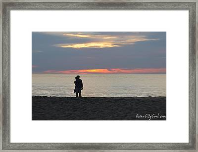 Framed Print featuring the photograph Sunrise Love by Robert Banach