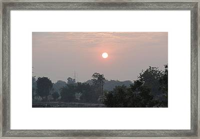 Sunrise Framed Print by Makarand Kapare