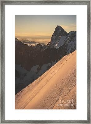 Sunrise Massif Du Mt Blanc Framed Print by Soren Egeberg