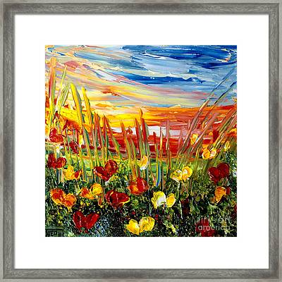 Sunrise Meadow   Framed Print by Teresa Wegrzyn