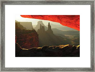 Sunrise, Mesa Arch, Canyonlands Framed Print by Michel Hersen