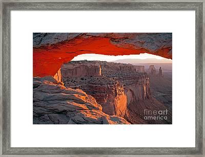 Sunrise Mesa Arch Canyonlands National Park Framed Print