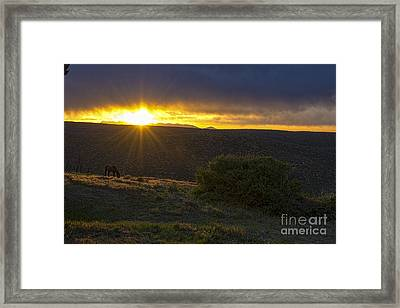 Sunrise Mesa Verde Framed Print by Keith Ducker
