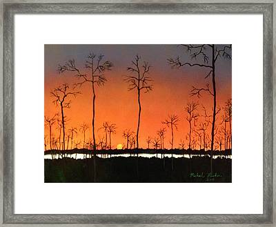 Framed Print featuring the painting Sunrise by Michael Rucker