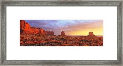 Sunrise, Monument Valley, Arizona, Usa Framed Print by Panoramic Images