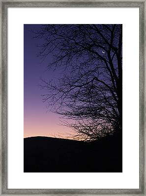 Sunrise Moon Framed Print