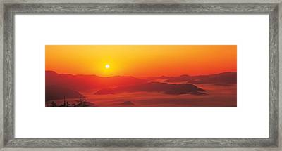 Sunrise Mt Taisetsu National Park Framed Print by Panoramic Images