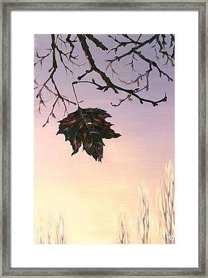 Framed Print featuring the painting Sunrise by Natasha Denger