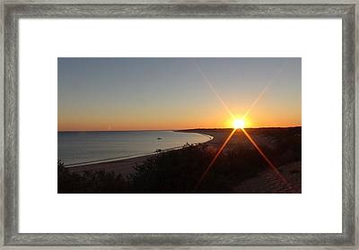 Framed Print featuring the photograph Sunrise Near Broome  Australia by Tony Mathews