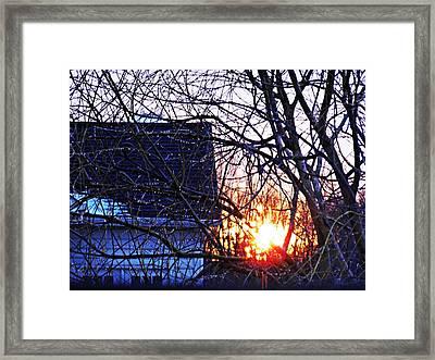Sunrise Next Door Framed Print