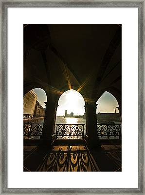 Sunrise Oberbaumbrucke Framed Print by Nathan Wright