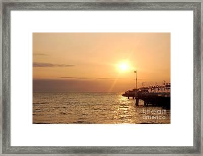 Sunrise Ocean Framed Print by Michal Bednarek