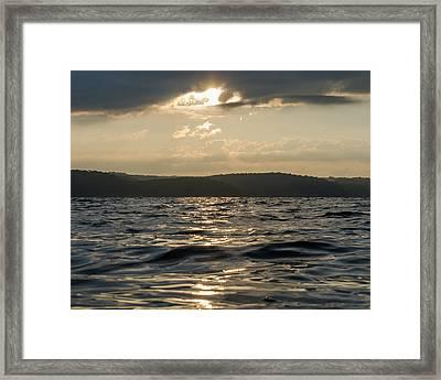 Sunrise Of Kentucky Lake Framed Print by Neil Todd