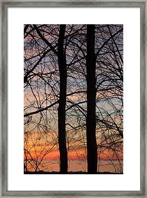 Sunrise Of Lake Huron Framed Print by Rhonda Humphreys