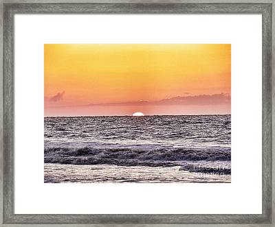 Sunrise Of The Mind Framed Print by Patricia Greer