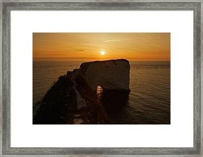 Sunrise Old Harry Rocks Framed Print