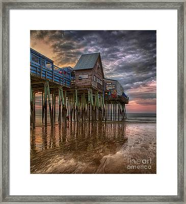 Sunrise Old Orchard Beach Framed Print by Jerry Fornarotto