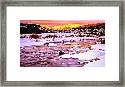 Sunrise On A Cold Day Framed Print by Bob and Nadine Johnston