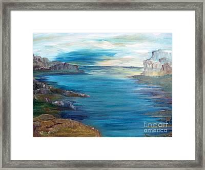 Sunrise On A Great Lake Framed Print