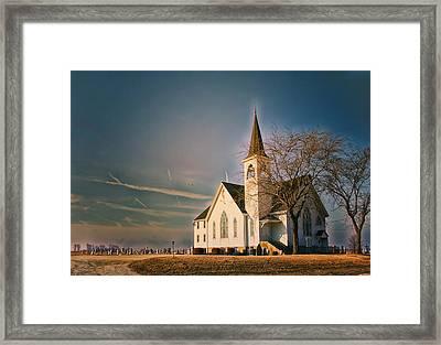 Sunrise On A Rural Church Extreme Framed Print