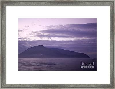 Sunrise On A Volcanic Island Framed Print by Sami Sarkis