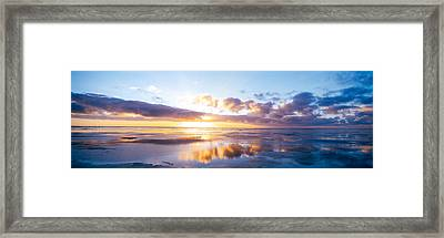 Sunrise On Beach, North Sea, Germany Framed Print by Panoramic Images