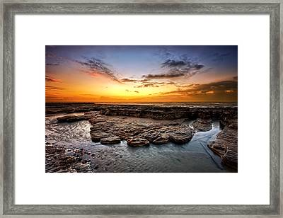 Sunrise On Bexhill Beach Framed Print by Mark Leader
