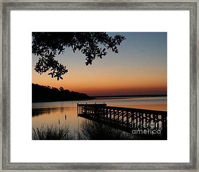 Sunrise On Bogue Sound Framed Print by Cari Gesch