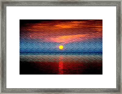 Sunrise On Brushed Metal Framed Print