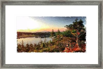 Sunrise On Bungie's Head Isle Au Haut Maine Framed Print by Mary Fennell