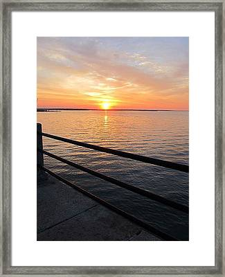 Framed Print featuring the photograph Sunrise On Charleston Sc Battery by Joetta Beauford