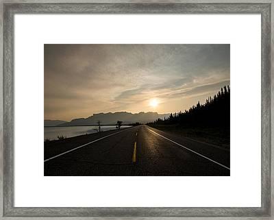 Sunrise On Highway 16 Framed Print