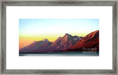 Sunrise On Jackson Lake Framed Print
